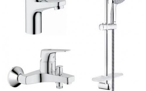 Набор смесителей для ванны Grohe Bundle Flow 121624