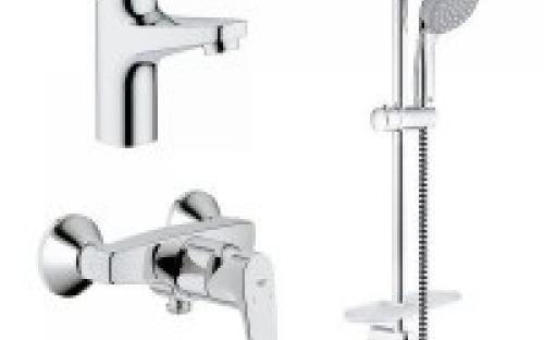 Набор смесителей для ванны Grohe Bau Flow Bundle