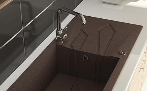 Мойка гранитная для кухни Marmorin Foorn I - 1 чаша со сливной полкой 1000х500х250 мм