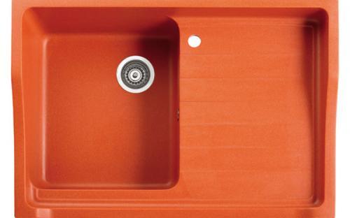 Мойка кухонная гранитная Marmorin Rubid - 1 чаша со сливной полкой 890х615х270 мм