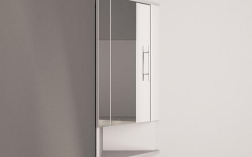 Угловой зеркальный шкафчик Fancy Marble ШЗ-315-2