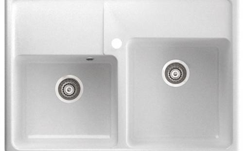 Кухонная гранитная мойка Marmorin Ewit - 2 чаши 895х630х210 мм