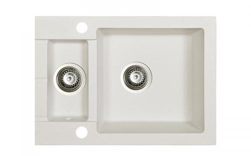 Гранитная мойка для кухни Fancy Marble Arizona 600x500x215 (Белый)