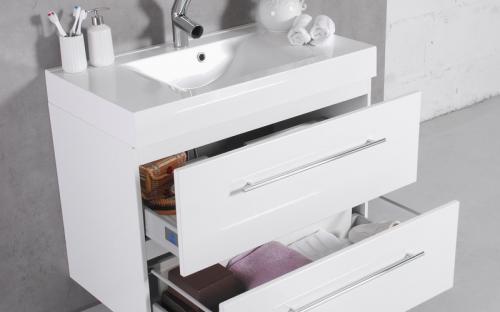 Шкафчик навесной Barbados 90 с раковиной Fancy Marble Nadja 900