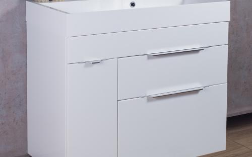 Шкафчик навесной Bermuda 2 с раковиной Fancy Marble Ashley 900