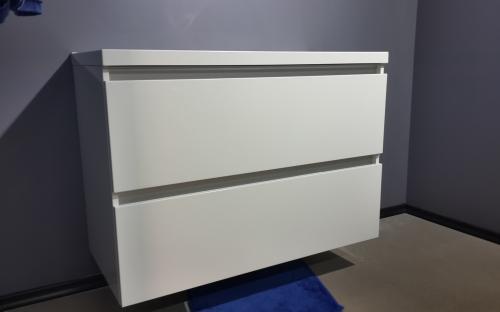 Шкафчик навесной Borneo 1000 с раковиной Fаncy Marble Lucia 1000