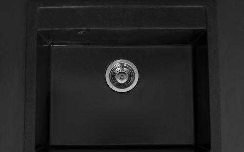 Гранитная мойка для кухни Fancy Marble Oregon (Черный)