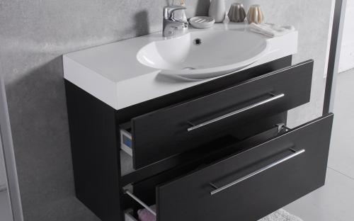 Шкафчик навесной Sumatra 2 с раковиной Fancy Marble Carme 980