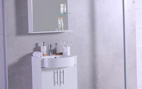 """Шкафчик навесной Ibiza 50 с раковиной Fаncy Marble """"Comfort"""" 512"""
