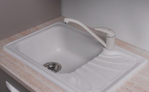 Гранитная мойка для кухни Fancy Marble Filadelfia 650x440x195 (Белый)
