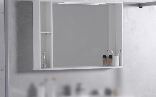 Шкафчик для ванной комнаты зеркальный МС-980 (ШЗ-980)