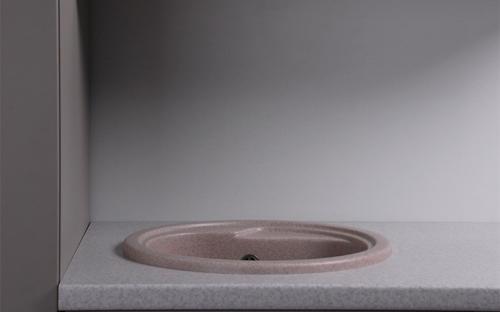 Гранитная мойка для кухни Fancy Marble Nevada 450x450x210 (Песочный)