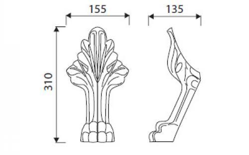 Ножки к ванной Marmorin Fama.