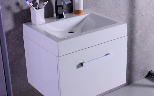 Шкафчик навесной Santa Cruz с раковиной Fancy Marble Lily 600