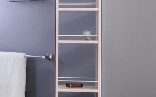 Пенал для ванной комнаты зеркальный, крутящийся SCMR (ПЗ-3К)