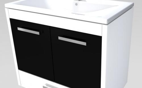 Шкафчик навесной для ванной комнаты с раковиной Yonna