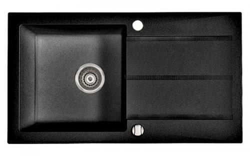 Гранитная мойка для кухни Fancy Marble Tennessee 780x435x170 (Черный)