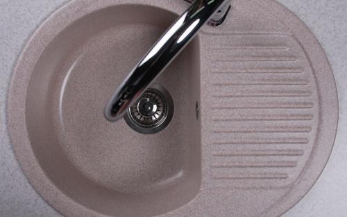 Гранитная мойка для кухни Fancy Marble Yuta 620x470x190 (Песочный)