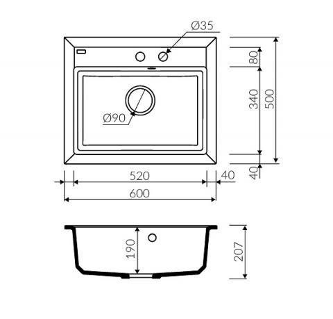 Кухонная мойка Marmorin Ivo 718 103 (врезная)