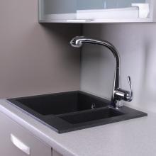 Гранитная мойка для кухни Fancy Marble Arizona 600x500x215 (Черный)